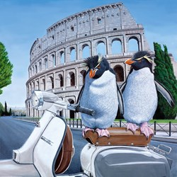 Roman Holiday by Steve Tandy - Limited Edition on Canvas sized 16x16 inches. Available from Whitewall Galleries