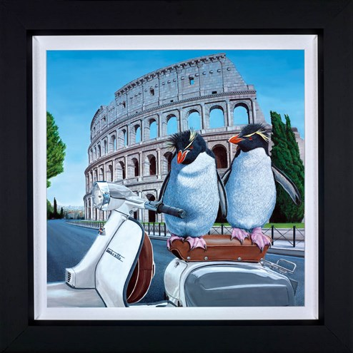 Roman Holiday by Steve Tandy - Framed Limited Edition on Canvas